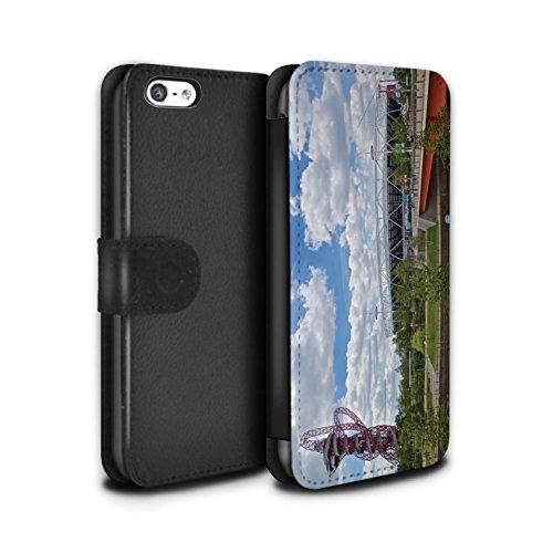 Stuff4 Coque/Etui/Housse Cuir PU Case/Cover pour Apple iPhone 5C / Tower Bridge Design / Sites Londres Collection Parc Olympique/Orbit