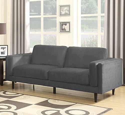 Sedex NEAPEL Sofa 3-Sitzer Garnitur Couch Polstergarnitur Kunstleder – Hellgrau
