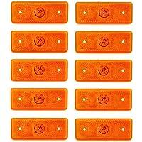 10 luces de gálibo laterales LED de 24 V, para remolques, chasis, camiones, caravanas, de color naranja