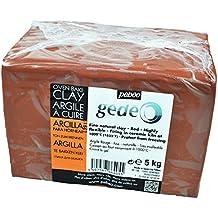 Gedeo - Argilla da modellare, 5 kg, colore: Rosso