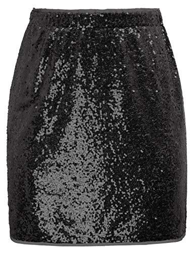 Pailletten röcke Damen Winter Rock sexy high Waist röcke CL910-1 L