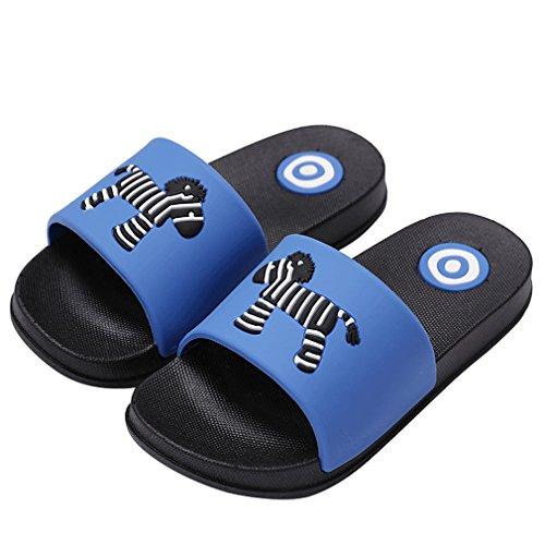 Kvbaby ciabatte da doccia unisex bambini pantofole per ragazzi scarpe da spiaggia adulti sandali a punta aperta nero genitore-figlio