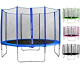 SixBros. SixJump 1,85 M Gartentrampolin Blau Trampolin - Sicherheitsnetz