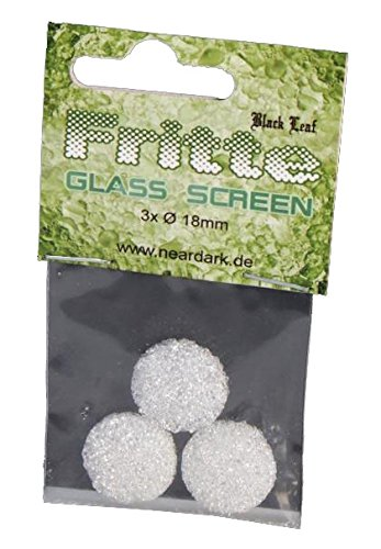 Set Black Leaf' Fritte-Siebe aus Glas - Ø18mm - 3 Stück im Bag -