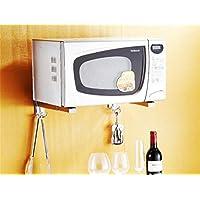 Acciaio inossidabile Cucina Forno a microonde mensola staffa a parete Rack Forno a microonde