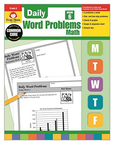 Daily Word Problems, Grade 6 by Evan Moor (2001-10-01)