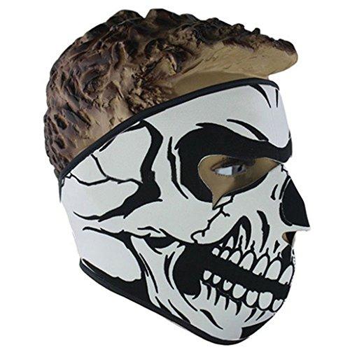 bibabo25Anti Staub Keep Warm Skull Full Face Maske Outdoor Sports Motorrad Reiten Radfahren Skifahren, (Black Full Face Maske)