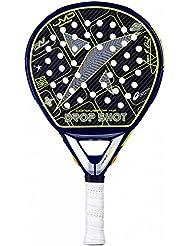 Drop Shot Conqueror 4.0 - Pala de pádel, color negro / amarillo, talla 38 mm