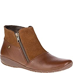 Hush Puppies Womens Khoy Dandy Ankle Boots Tan Suede/leather 5 B(M) US