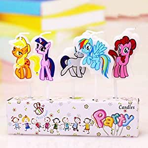 Partymane Little Pony Party Candle/Birthday Candle/Little Pony Theme Birthday Candle/Theme (Pack of 5 Pcs)Candle/Party Supplies