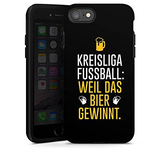 Apple iPhone X Silikon Hülle Case Schutzhülle Fußball Kreisliga Bier Tough Case glänzend