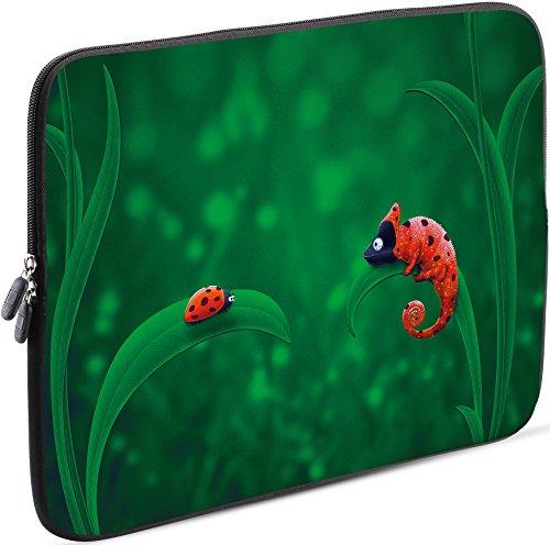 Sidorenko Laptop Tasche für 14-14,2 Zoll | Universal Notebooktasche Schutzhülle | Laptoptasche aus Neopren, PC Computer Hülle Sleeve Case Etui, Grün
