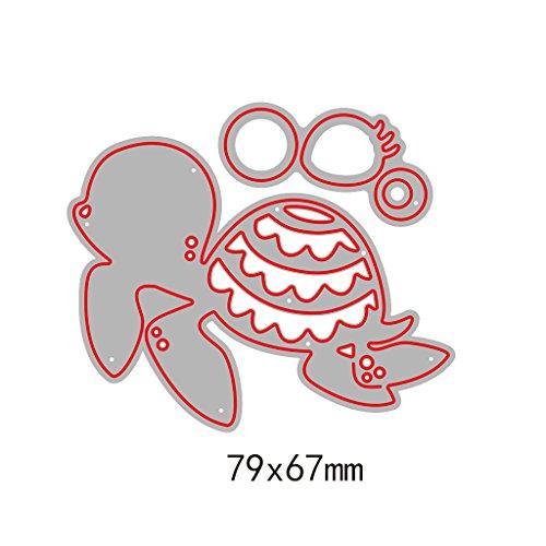 Fogun Schildkröte Metall Stanzformen handgemachte DIY Schablonen Vorlage für Karte Scrapbooking Craft Prägung für Weihnachten Thanksgiving Geschenke -