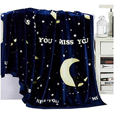 Fleece Bed Blanket Snuggle Quilt Morbido e Caldo Sofà Della Coperta Del Tiro 300g / (Peluche Fleece Tiro)