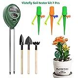 Vistefly 3-in-1 Soil Tester Moisture Meter, Plant Soil Tester Kit, Light and PH