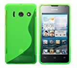 Luxburg® Housse Etui Coque Huawei Ascend Y300 silicone case TPU Vert pomme