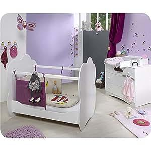 Mini Chambre bébé Altéa avec plan à langer Blanc Ma chambre d'enfant
