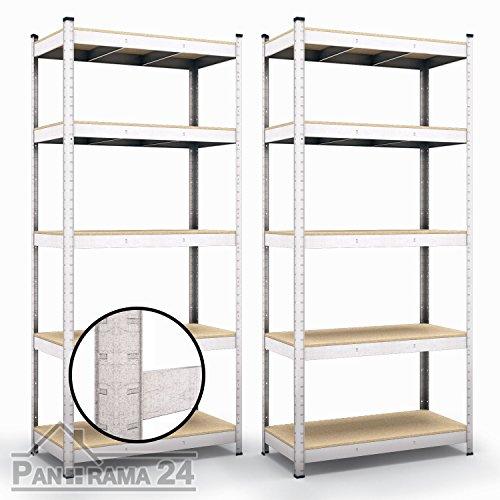 Preisvergleich Produktbild Schwerlastregal 2 x 1800x900x400 (875kg) Steckregal Kellerregal Lagerregal Werkstattregal
