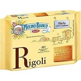 Mulino Bianco Biscotti Frollini Rigoli con Miele Italiano, Perfetti per la Colazione- 800 g