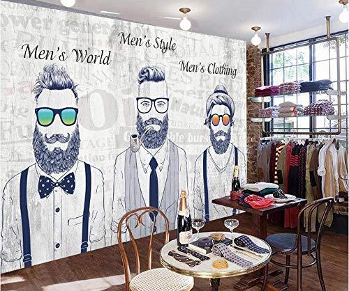 3D-Vlies Fototapete Wandbild Trend Persönlichkeit Flut Shop Herrenbekleidungsgeschäft Sonnenbrille Herren Hintergrund Wand @ 350 * 245cm
