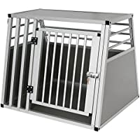 Hundebox Hundetransportbox Transportbox Alubox Aluminium Alu Box 1 Türig Reisebox Gitterbox Silber HT2075sbM3