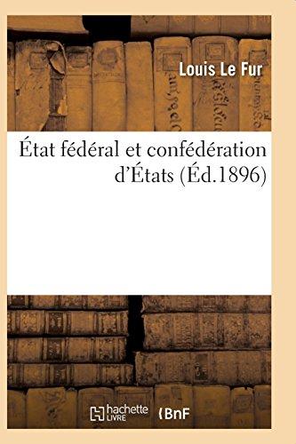 État fédéral et confédération d'États