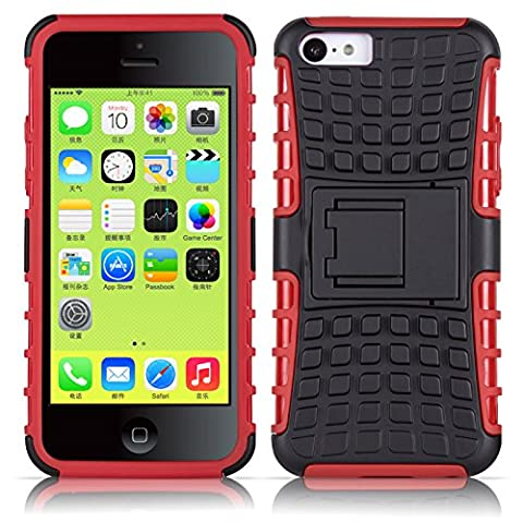 iPhone 5C Hülle, JAMMYLIZARD [ ALLIGATOR ] Doppelschutz Outdoor-Hülle für