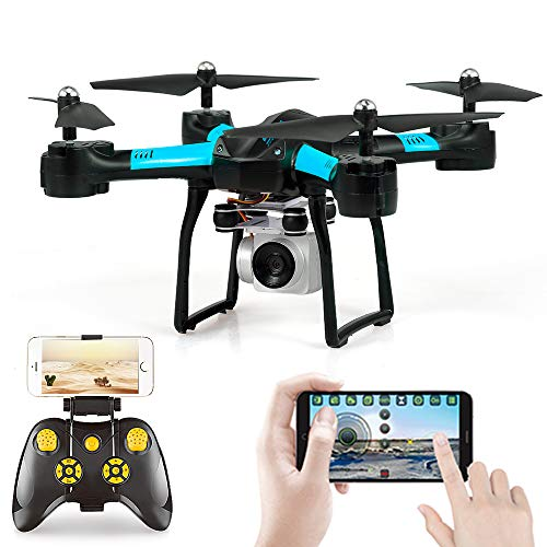 Goolsky- YILE Juguetes S31 WiFi FPV 1080 P Cámara Gran Angular G-Sense Control Altitud Mantener Ruta Volar RC Drone Entrenamiento Quadcopter