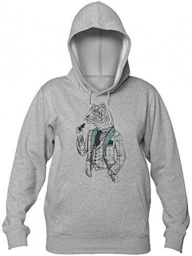 uxedo And Binoculars Kapuzenpullover für Damen Women's Hooded Sweatshirt Extra Large ()