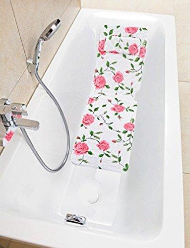 Badewanneneinlage Einlage Badewanne Nackenpolster Badewannenmatte Matte Rosen