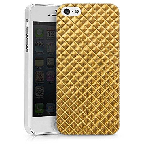 Apple iPhone X Silikon Hülle Case Schutzhülle Nieten Gold Muster Hard Case weiß