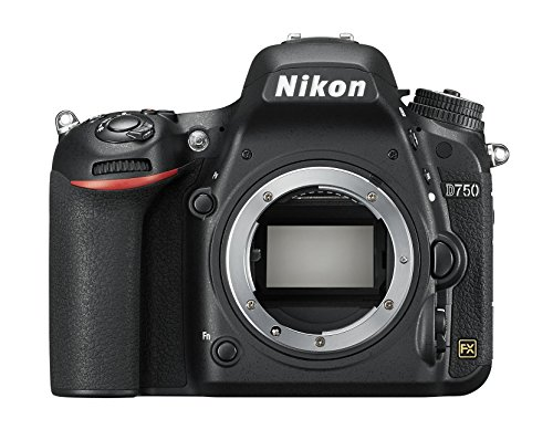 Nikon D750 SLR-Digitalkamera (24,3 Megapixel, 8,1 cm (3,2 Zoll) Display, HDMI, USB 2.0) nur Gehäuse schwarz (Generalüberholt)