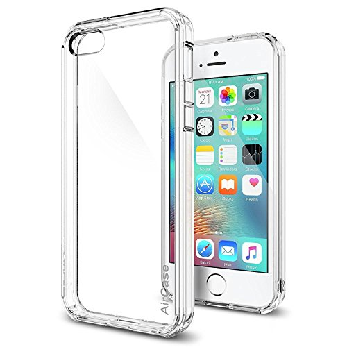 AirPlus AirCase Crystal Clear Back with see through Bumper HD UV Coated For Apple Iphone 5/5S[TRANSPARENT]
