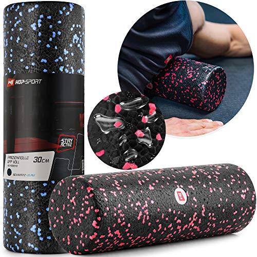 Hop-Sport Faszienrolle HS-P030SYG 30x10cm Massagerolle zur Muskelregenaration für Arme Beine Rücken Mittel-Hart (rot)