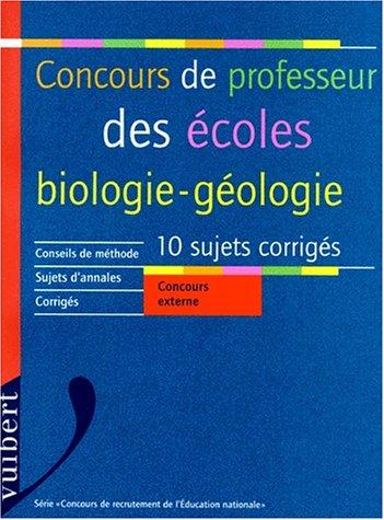 Biologie-géologie concours de professeur des écoles, voir 2711783731
