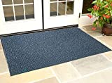 #4: Kuber Industries™ Dirt Rubb Off Clean Footwear PVC Thick Doormat for Offices,Hotel ,Restaurtaurant,Home,Shop Color- Grey (Extra Large) Size : 90 cm x 60 cm x 1.5 cm