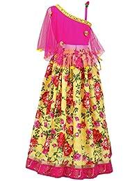 5c7430f43b9daf Twisha off Shoulder Net choli with designer Floral lehenga -Yellow-(AW18-XP