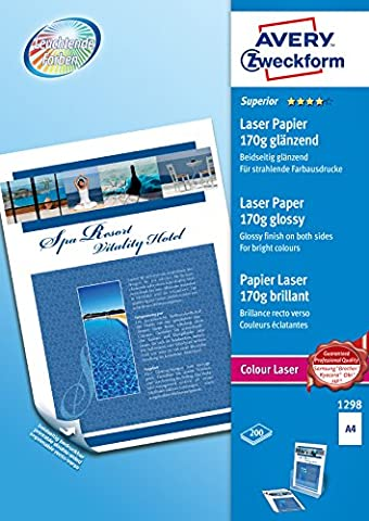 Avery - 200 Feuilles A4 de Papier Photo, 170 g/m²,