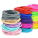 Cuhair(tm)fashion Women Girl 50pcs Assortedmixed Color) Elastic Ponytail Holders Hair Tie Assorted Rope Rubber Bands Accessories by cuhair
