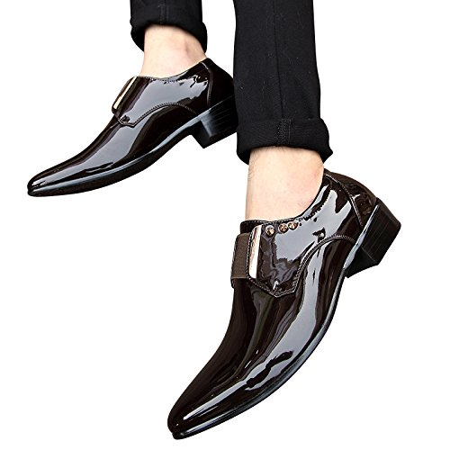 XiaoYouYu , Chaussures à lacets homme vin rouge