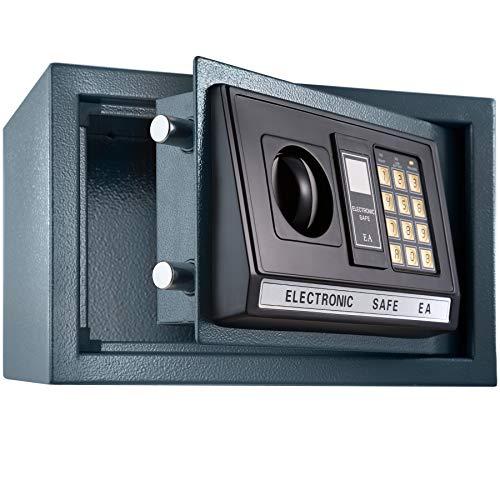 TecTake Caja Fuerte electrónica Pared Safe Caja de Seguridad Mini Hotel Seguro + Llave (20x31x22cm | No. 400564)