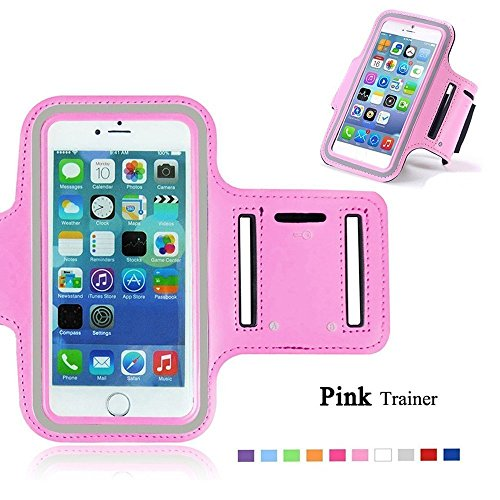 Go Crazzy Samsung Galaxy J7 2016 New Hot (5.5) Arm Band Workout Cover Sport Gym Case ForSamsung Galaxy J7 2016 (LIGHT PINK \)