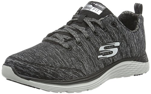 Skechers (SKEES) Valeris Full Force, Scarpe da Ginnastica Basse Donna, Nero (BKCC), 36