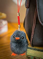 BUY 2 GET 1 FREE! Small Fur Cute Chick - Baby Bird Fluffy Duck Keyring Pompom, Charm, Animal fur, Unique Gift, Cute, Chain, Fox, Ferret Vogue Fashion Pendant Clothing Novelty Fob & Special Use Novelty Accessories KeyChains by Furry Friends TM