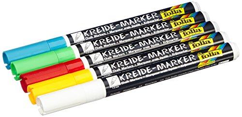 Preisvergleich Produktbild Folia 390509 - Kreidermarker Set 5er
