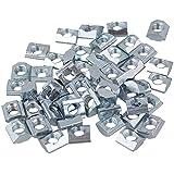 Estándar Europeo 20Series semicircular para rollo de acero de carbono ranura de aluminio en plata, cnbtr deslizante T Ranura Tuerca 50Unidades, Plateado