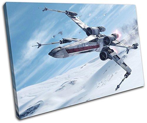 Bold Bloc Design - Star Wars Battlefront Gaming 90x60cm SINGLE Leinwand Kunstdruck Box gerahmte Bild Wand hangen - handgefertigt In Grossbritannien - gerahmt und bereit zum Aufhangen - Canvas Art Print (Bilder Single Zeitgenössische Zeitgenössisch)