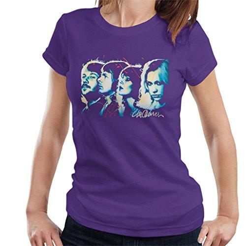 Sidney Maurer Original Portrait of Abba Side Profile Women's T-Shirt (Portrait Profil)