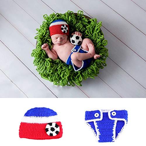 ZOYLINK Baby FußBall KostüM Fotografie Eingestellt Cosplay Häkeln Kostüm Fotografie (Fußball Baby Kostüme)