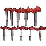 BQLZR 16–60mm de diámetro, acero de aleación de color plateado abierto agujero carpintería forstner Drill Bit cortador herramienta eléctrica Pack de 10